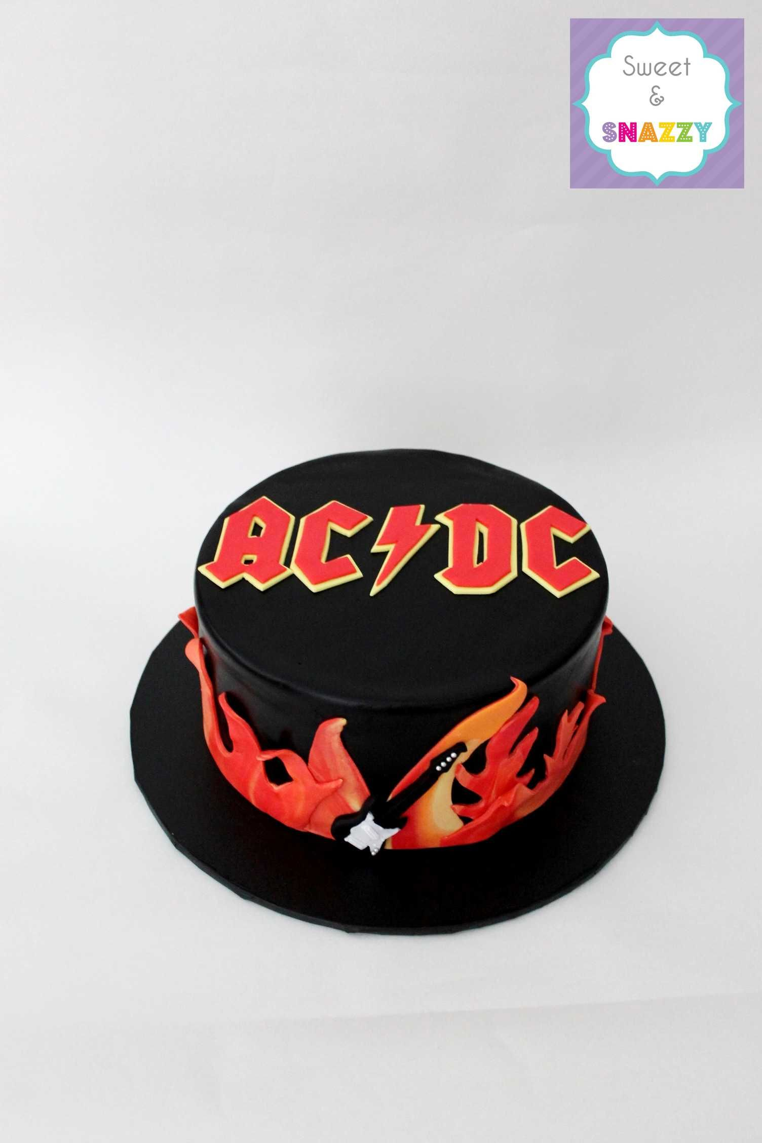 Acdc Cake By Sweet Amp Snazzy Https Www Facebook Com