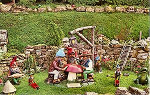 The gnomes at Blackgang, Isle of Wight