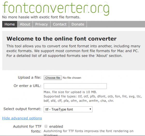 List of best Free Online Font Converter websites | Windows