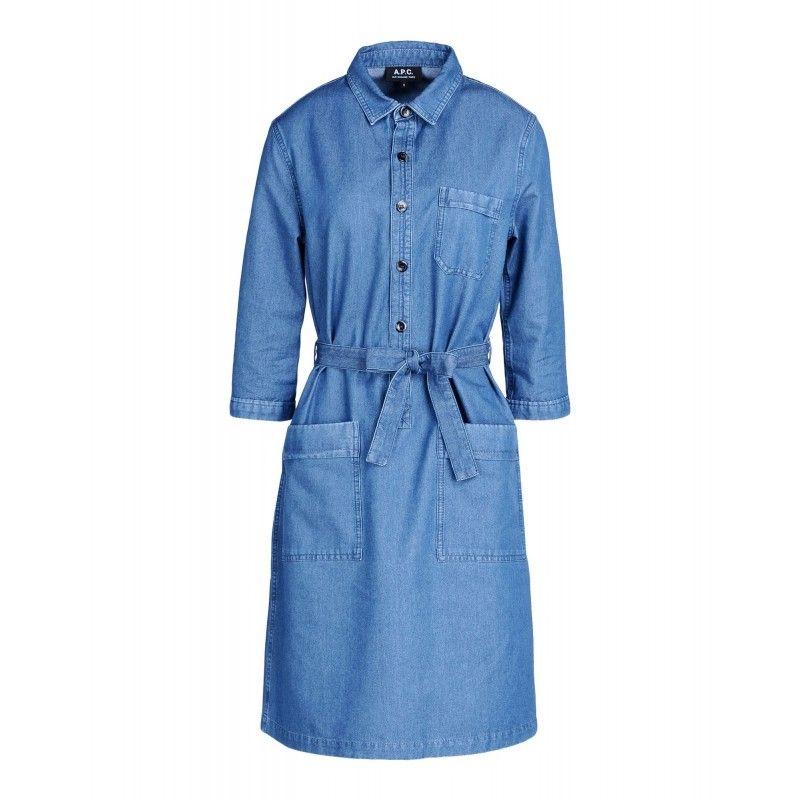 A.P.C. Nancy Belted Denim Dress