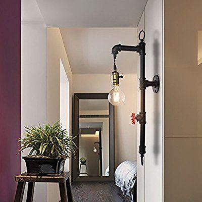 Lingkai Vintage Industrial Loft Steampunk Single Head Kreative Eisen Wasser  Rohr Wand Lampe Mit E27 Für
