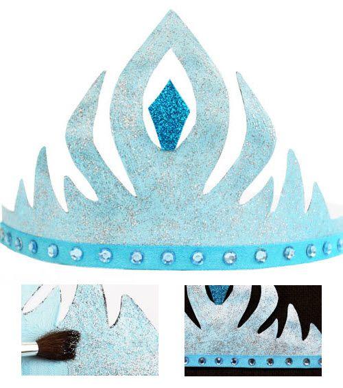 fabriquer une couronne elsa en papier reine des neiges pinterest elsa couronnes et. Black Bedroom Furniture Sets. Home Design Ideas