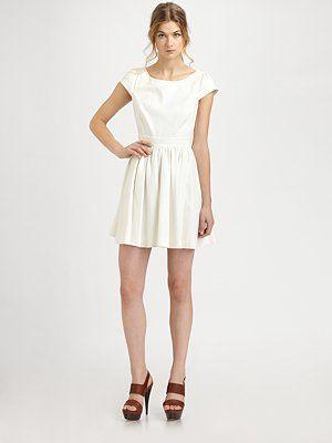 Loving white dresses right now!
