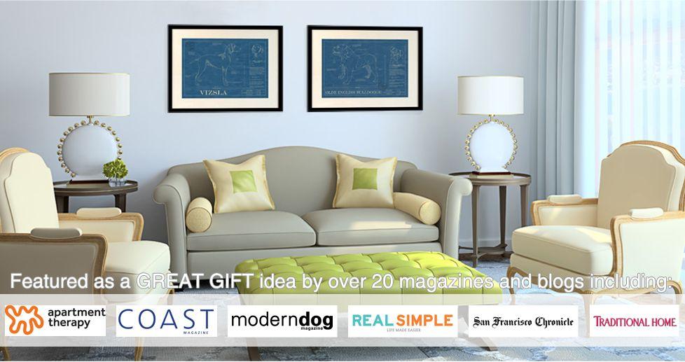 Animal Blueprint Company | Dog & Cat Breeds Blueprint Wall Art | Dog & Cat Art Prints