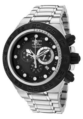 Men's Subaqua Chrono Stainless Steel Black Dial Black IP SS and Bezel SS
