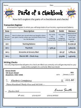 Real World Math Checkbook Lesson And Activity Life Skills Classroom Life Skills Lessons Teaching Life Skills