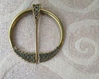 Große Penannular Brosche Schal Pin Viking Knotwork Spange