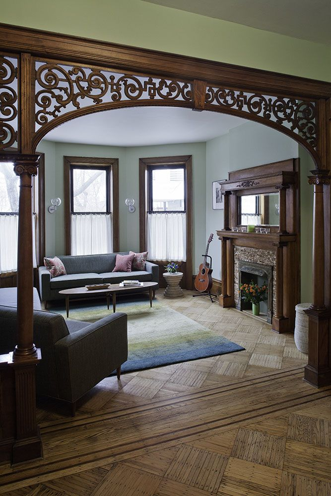 Wooden Structure That Turns A Boring Rectangular Passageway Into An Intricate Arch What S It Called Home Home Decor Hallway Designs