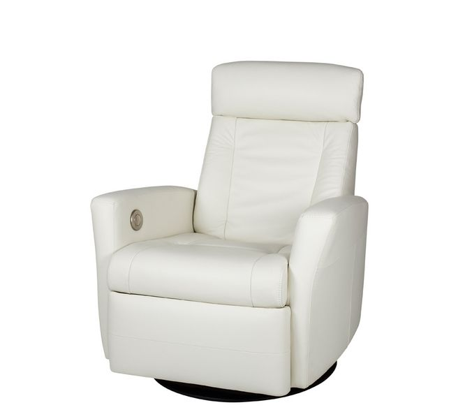 Benson Motion Recliner White Contemporary Furniture