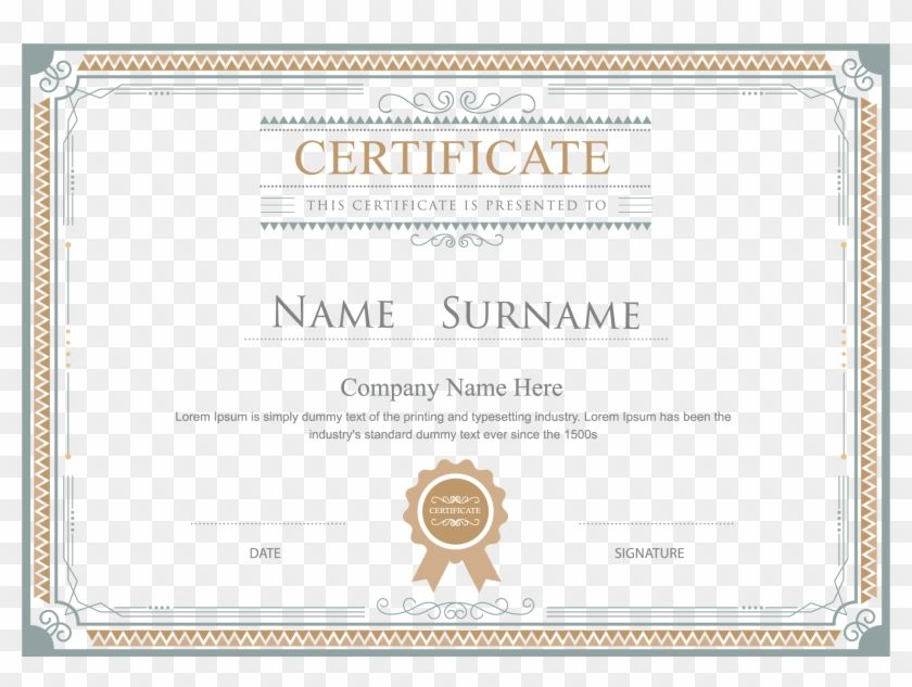Find Hd Certificate Png Hd Free Certificate Border Png Transparent Png To Search And Download More Free Tr Certificate Border Certificate Free Certificates