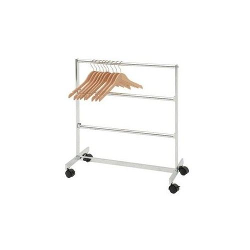 Three tier deluxe clothing hanger storage rack on casters for easy mobility  sc 1 st  Pinterest & Deluxe Clothing Hanger Storage Rack Height : 31