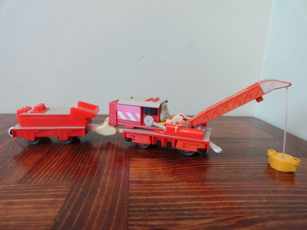 Thomas Trackmaster Rocky The Rescue Crane Working Motorized Crane