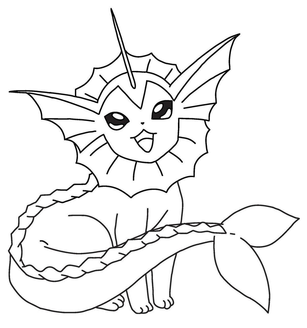 Pokemon Vaporeon Coloring Pages Pokemon Coloring Sheets Pokemon