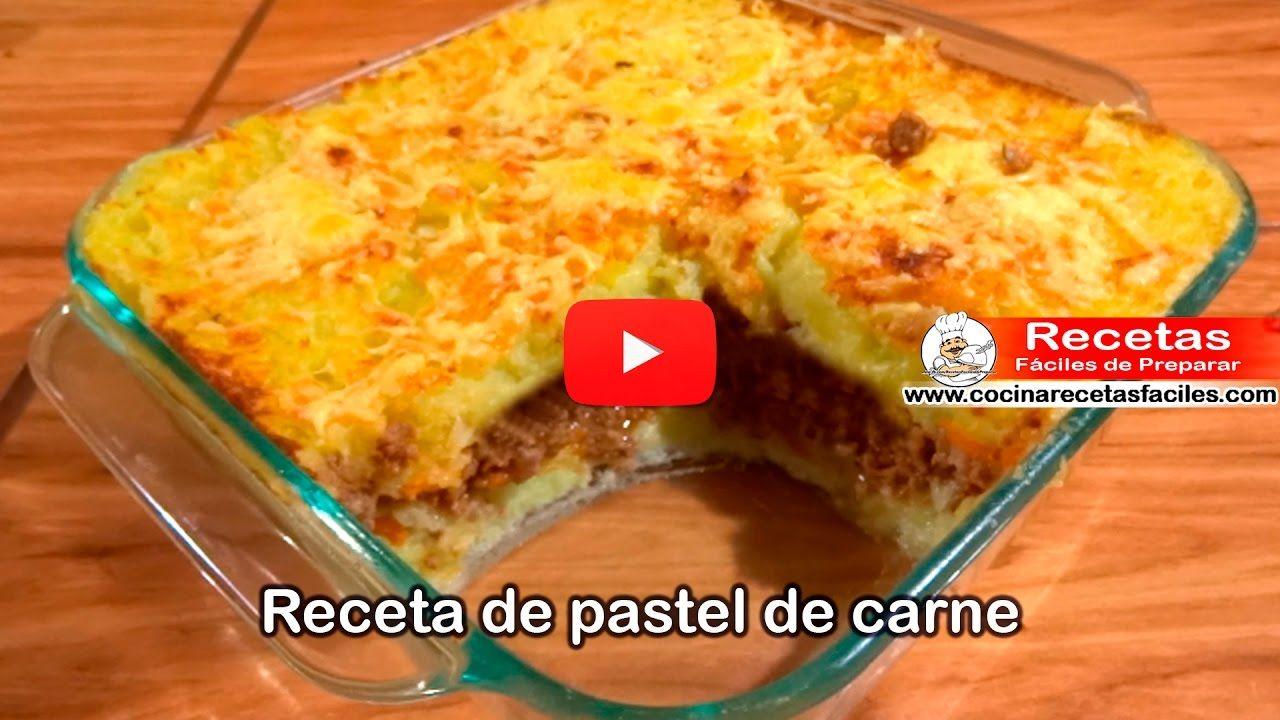 ▷ Receta de pastel de carne – Vídeo recetas de carne