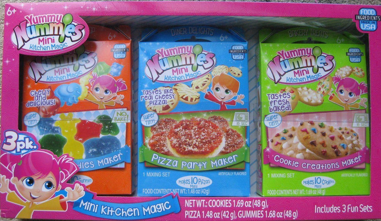 amazon com yummy nummies mini kitchen magic 3 pack set toys