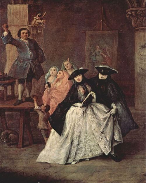 Genremalerei 19. jahrhundert  Pietro Longhi. Der Scharlatan. 1757, Öl auf Leinwand, 62 × 50 cm ...