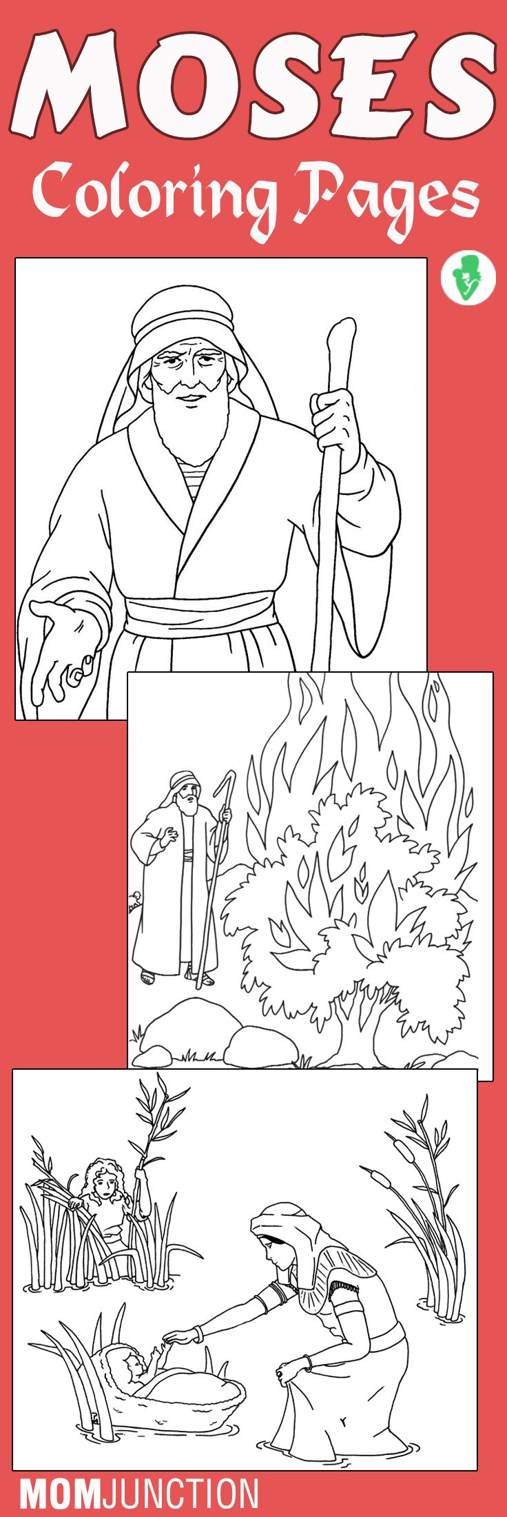 Moses Coloring Pages Free Printables Red sea Sunday school and
