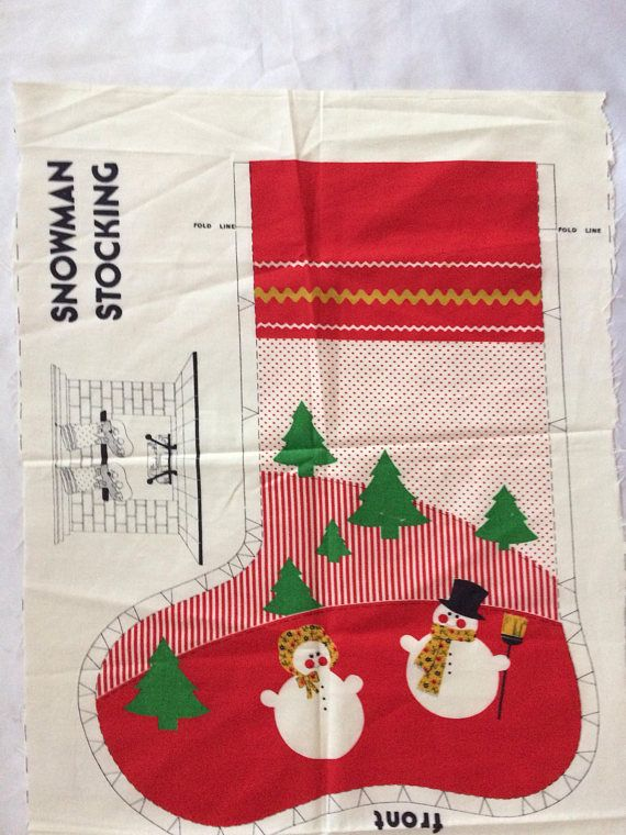 "Believe in Santa Stockings Socks Henry Glass Christmas Fabric  23/"" Panel  #6244P"
