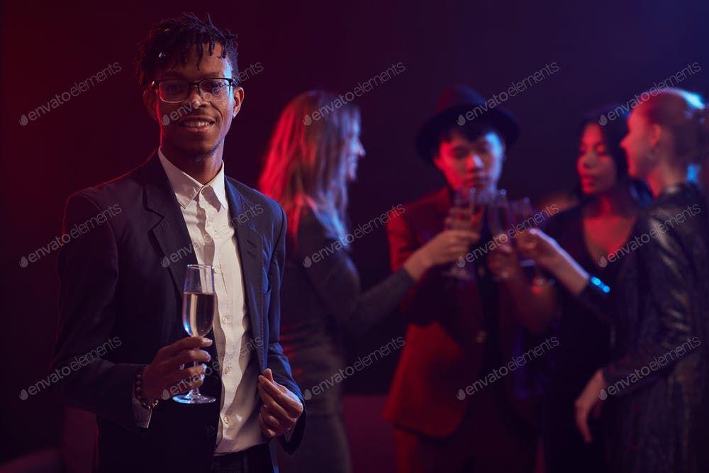 Elegant African Man Posing in Nightclub By seventyfourimages鈥檚 photos #Ad , #Affiliate, #African, #Elegant, #Man, #Nightclub