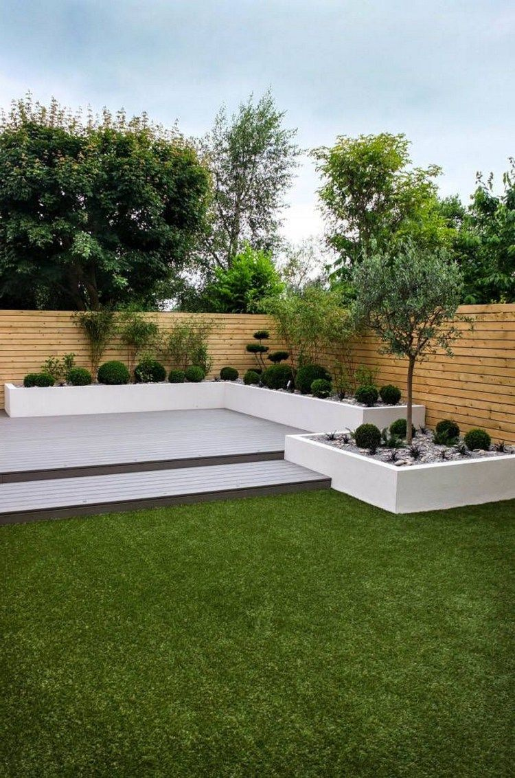 Minimalist Garden Backyard Landscape Large Backyard Landscaping