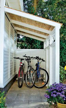 bildergebnis f r fahrradschuppen garten pinterest fahrradschuppen g rten und fahrradgarage. Black Bedroom Furniture Sets. Home Design Ideas