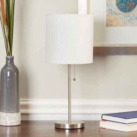 Mainstays Stick Table Lamp With Shade Cfl Bulb Included Walmart Com Table Lamp Cfl Bulbs Lamp
