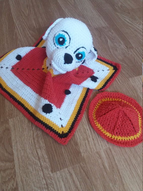 Paw patrol inspired fire rescue puppy Marshal lovey,safety blanket ...