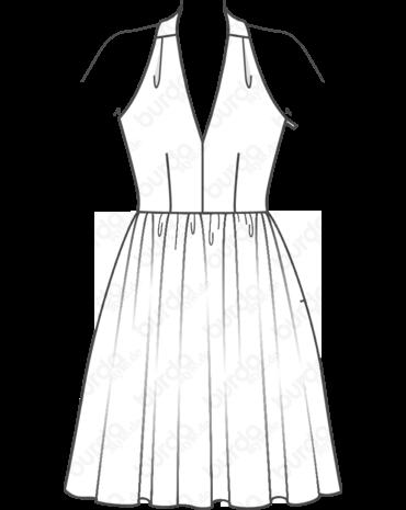 Neckholder-Kleid 02/2017 #113   BURDA   Pinterest   Neckholder kleid ...