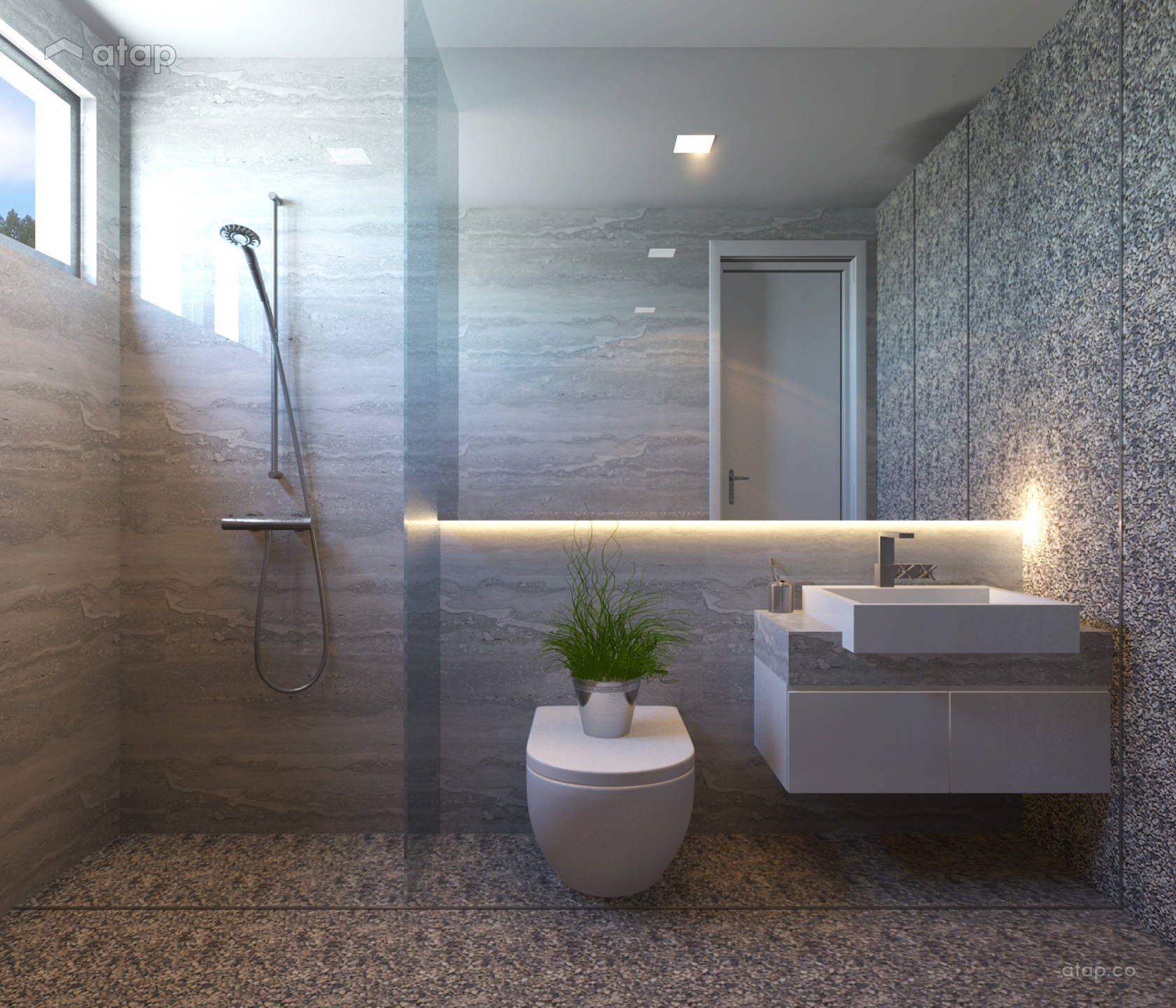 Minimalistic Modern Bathroom Bungalow Design Ideas Photos Malaysia Atap Co Modern Bathroom Design My Room