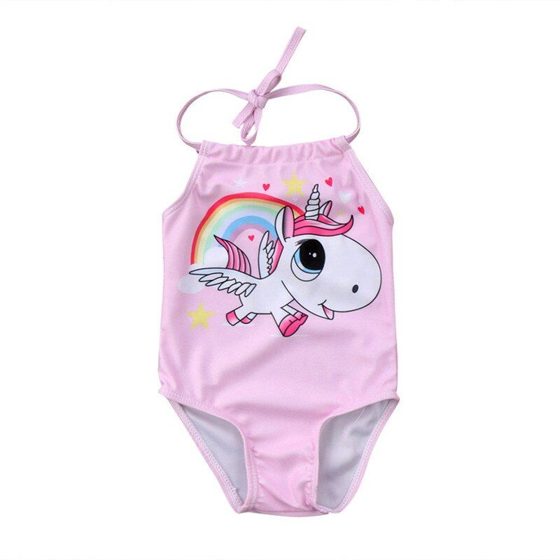 Brand New Toddler Infant Newborn Baby Girls Cute Unicorn Bikini Swimwear Swimsuit Bathing Suit Beachwear Cartoon Clothes