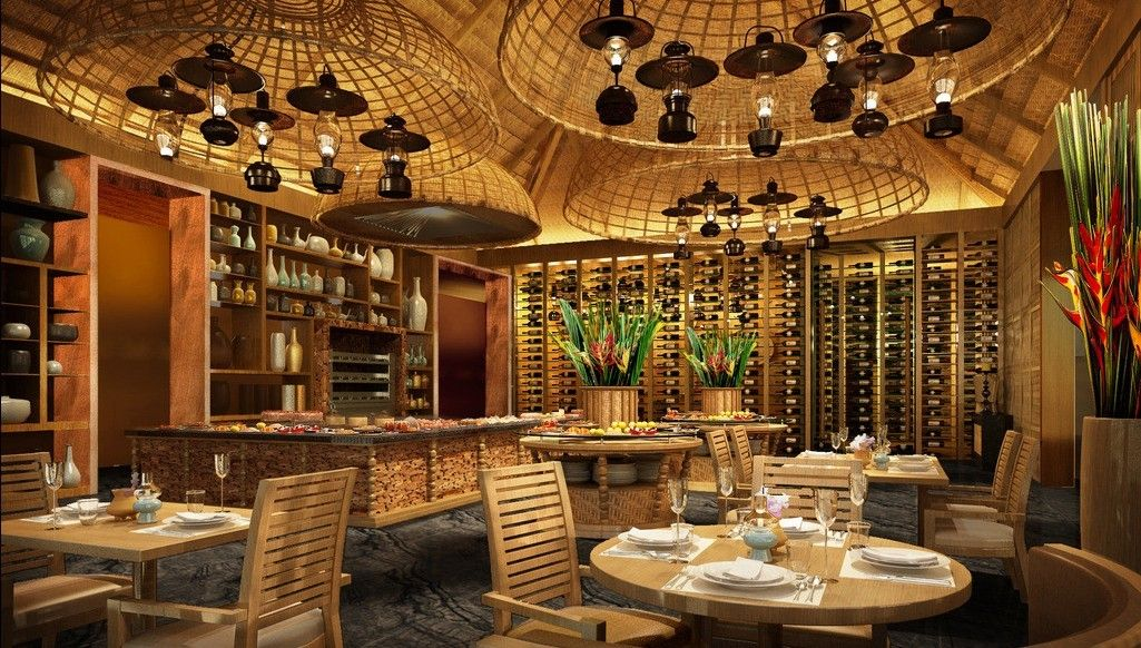 Bamboo Interior Design Ideas Restaurant Wood Ceiling And Bamboo