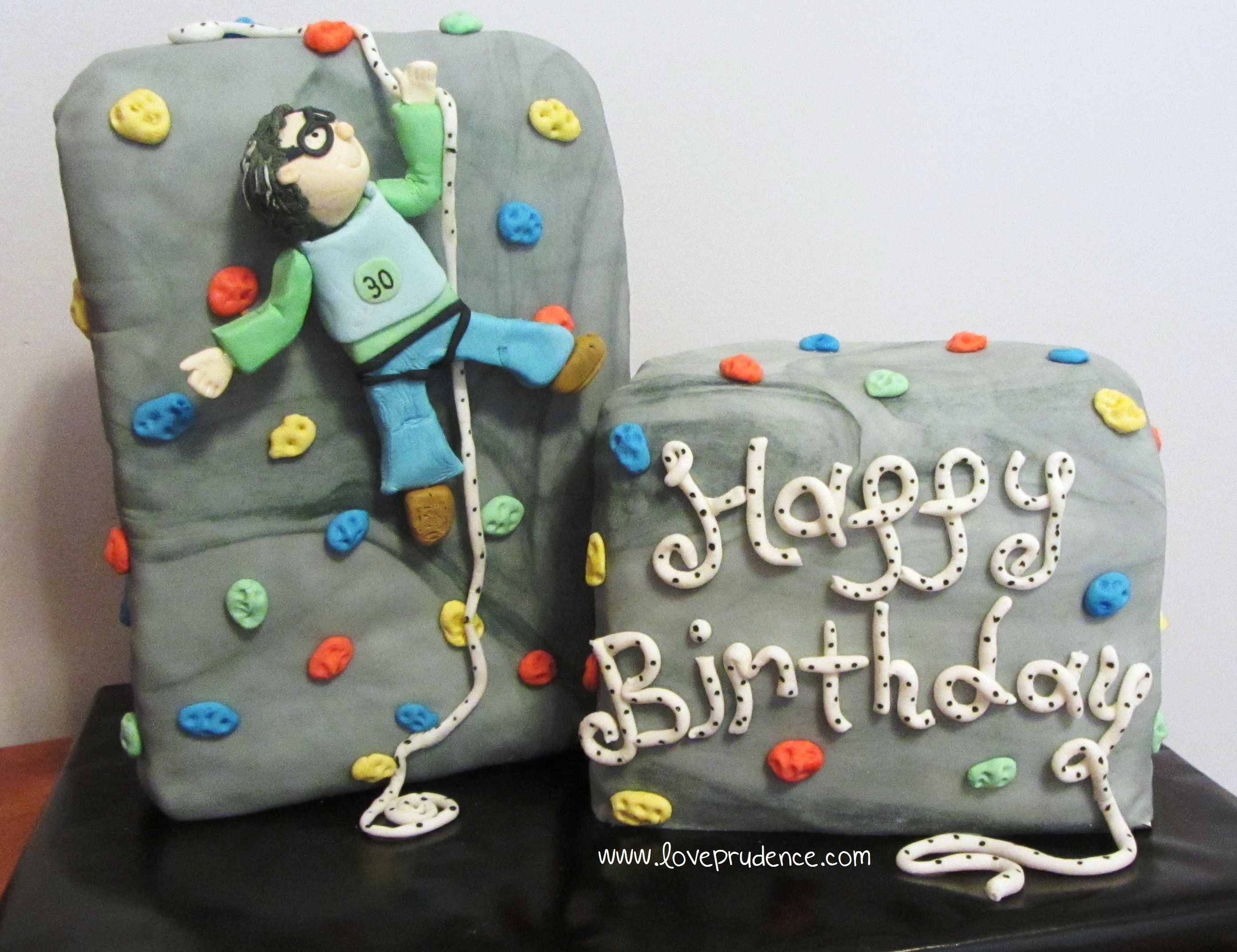 Rock climbing christmas ornaments -  Happy Birthday Rock Climber Cake By Love Prudence
