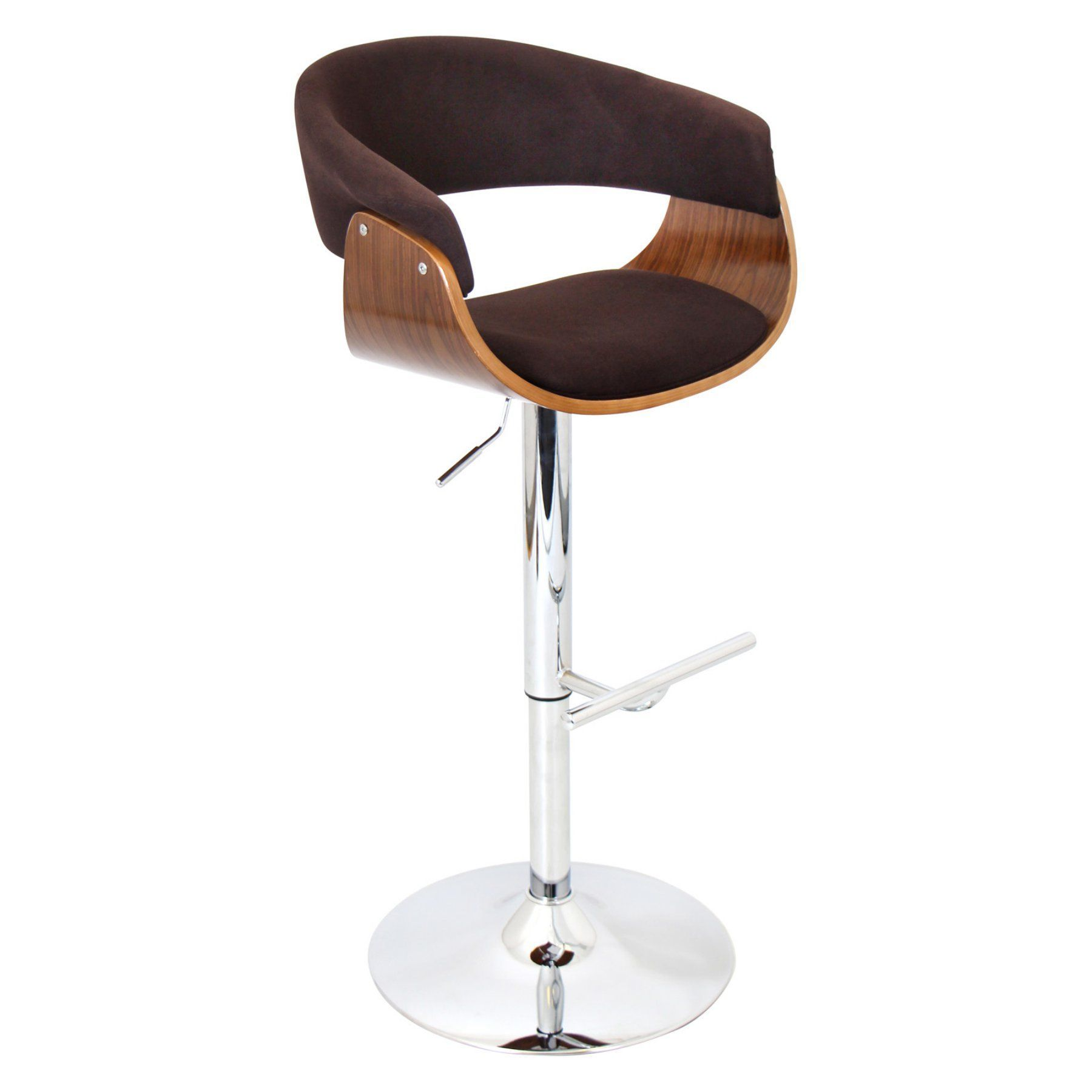 LumiSource Vintage Mod Adjustable Bar Stool - BS-JY-VMO WL+C