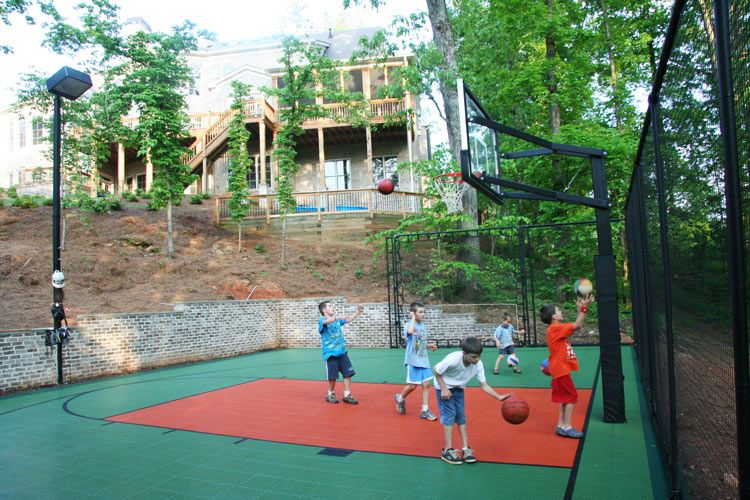 Outdoor Basketball Court Lights Our backyard isnt huge but i really want to finish the flooring and our backyard isnt huge but i really want to finish the flooring and put workwithnaturefo