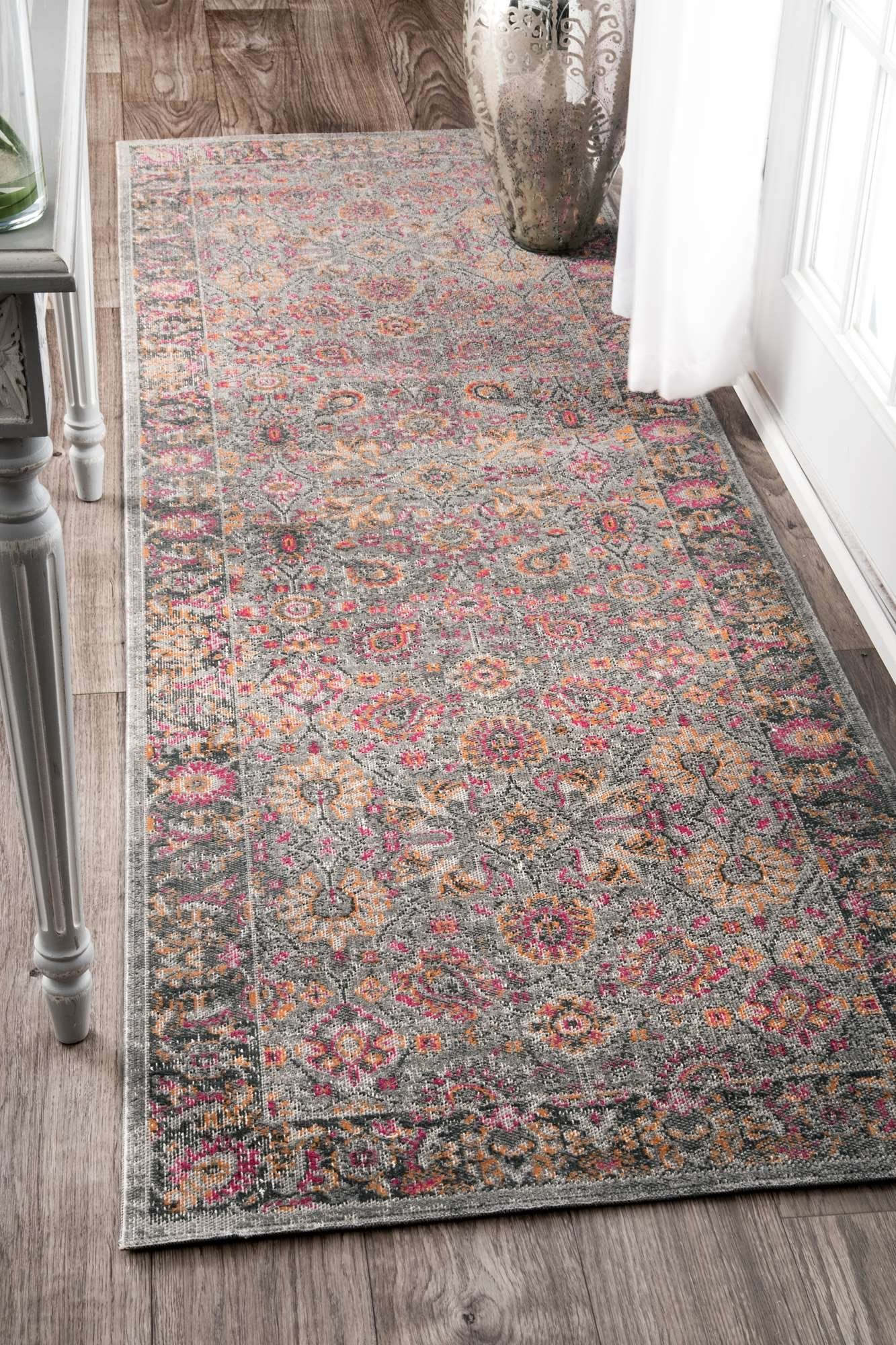 Khalil Pinkgray Area Rug Products Pinterest Vintage Home