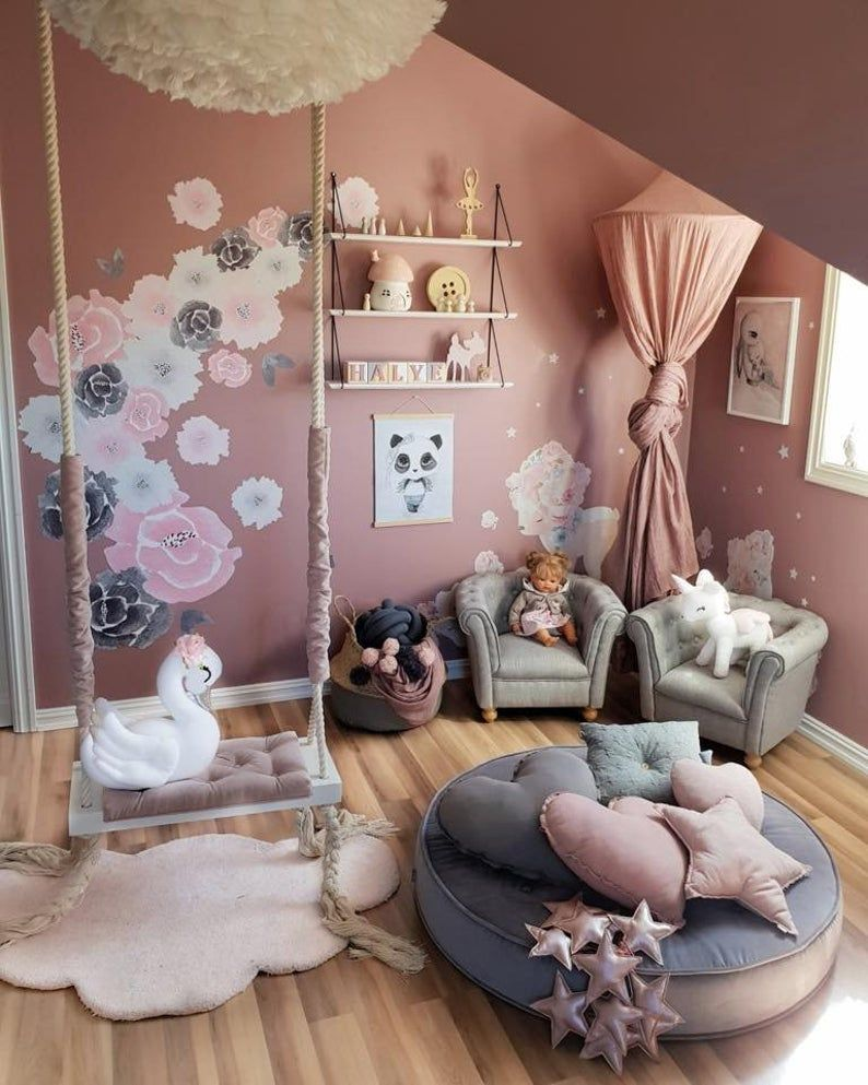 Swing Vintage 75cm In 2021 Princess Bedroom Decor Girl Bedroom Designs Toddler Girl Room Baby bedroom interior design