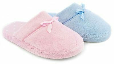 Baby pink and blue slippers