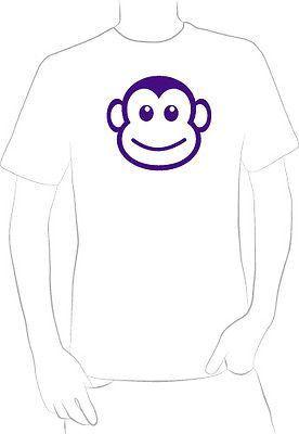 Purple Monkey Face Graphic t-shirt cute fun original