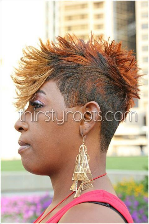 faux hawk hairstyle for black women   Short black hairstyles ...