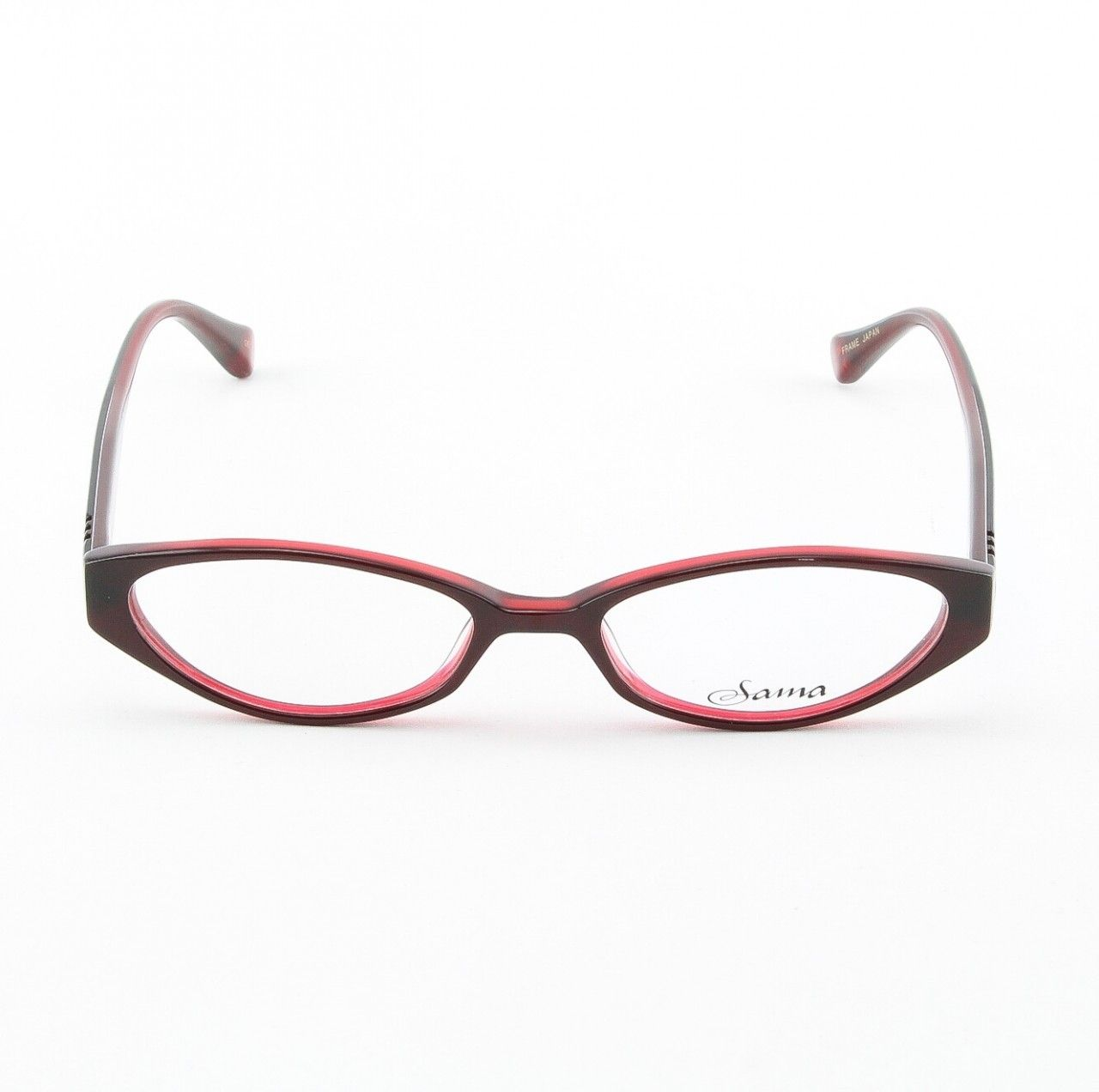 Loree Rodkin Demi Eyeglasses by Sama Col. Ruby with Clear Lenses - Theaspecs.com