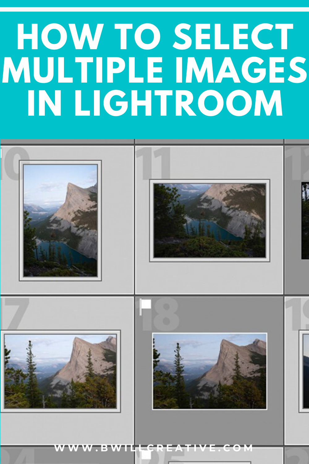 How to select in lightroom