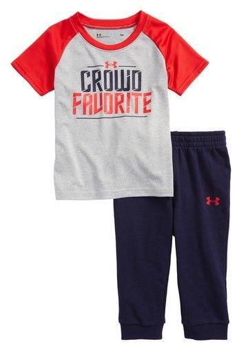3f2208f69 Infant Boy's Under Armour Crowd Favorite T-Shirt & Pants Set #shopstyle  #babyboy #underarmour