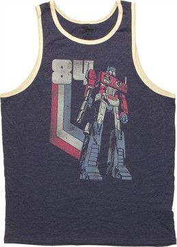 acd493af40ed2 Transformers Optimus Prime 84 Vintage Tank Top