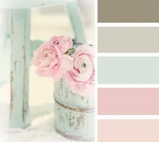 The Shabby Chic Home Color Schemes Colors