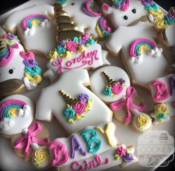 Unicorn Baby Shower Cookies Baby Shower Cookies In 2018