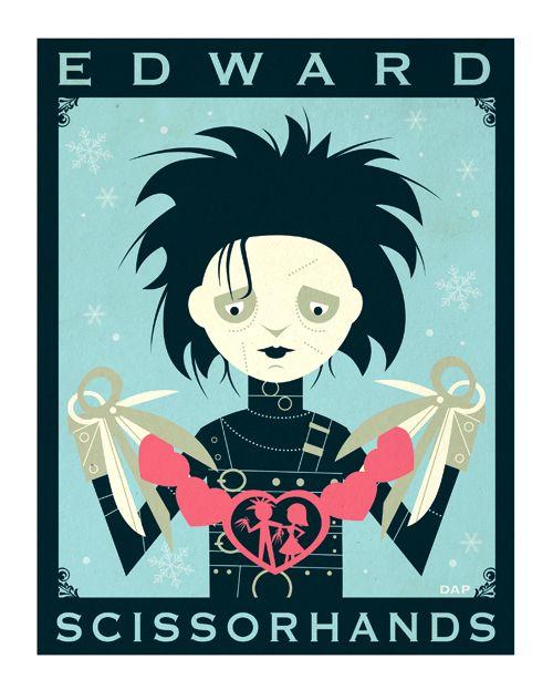 Johnny Depp Tim Burton Foto Imprimir 3 Poster