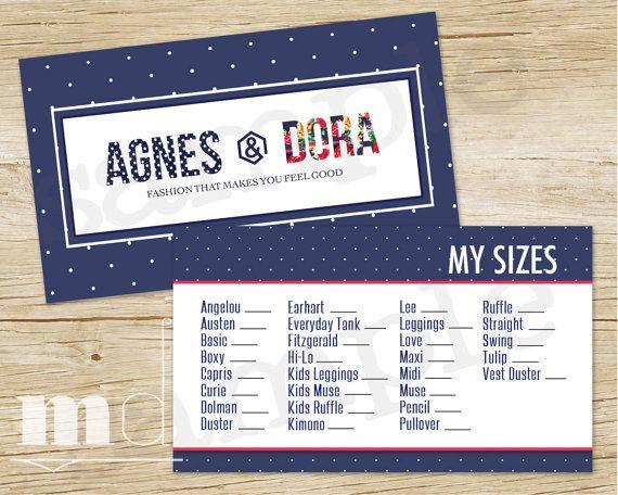 Agnes and dora my sizes card agnes dora my size business card agnes and dora my sizes card agnes dora my size business card polka colourmoves