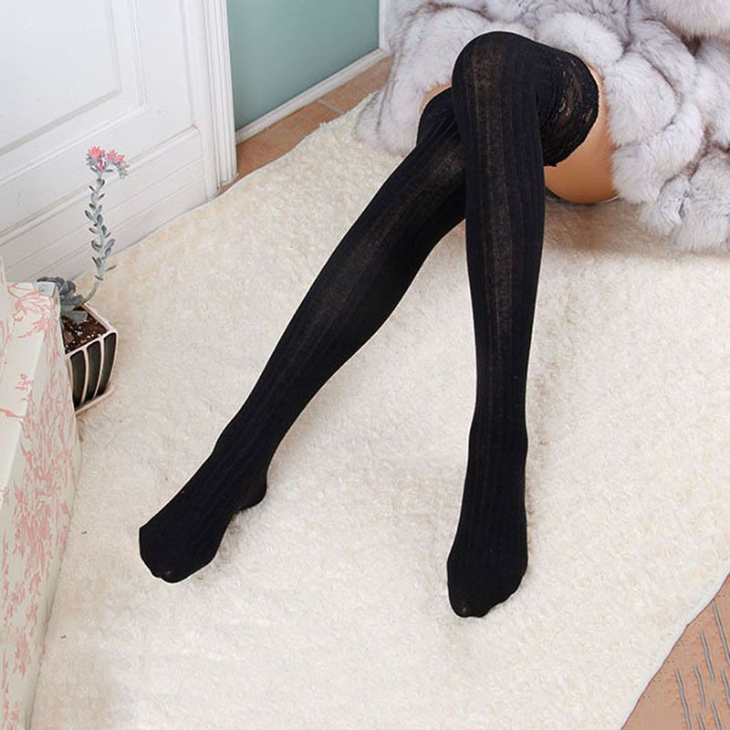 fc66775a0 WoMen Wool Braid Over Knee Socks Thigh Highs Hose Stockings Twist Warm  Winter Hot!