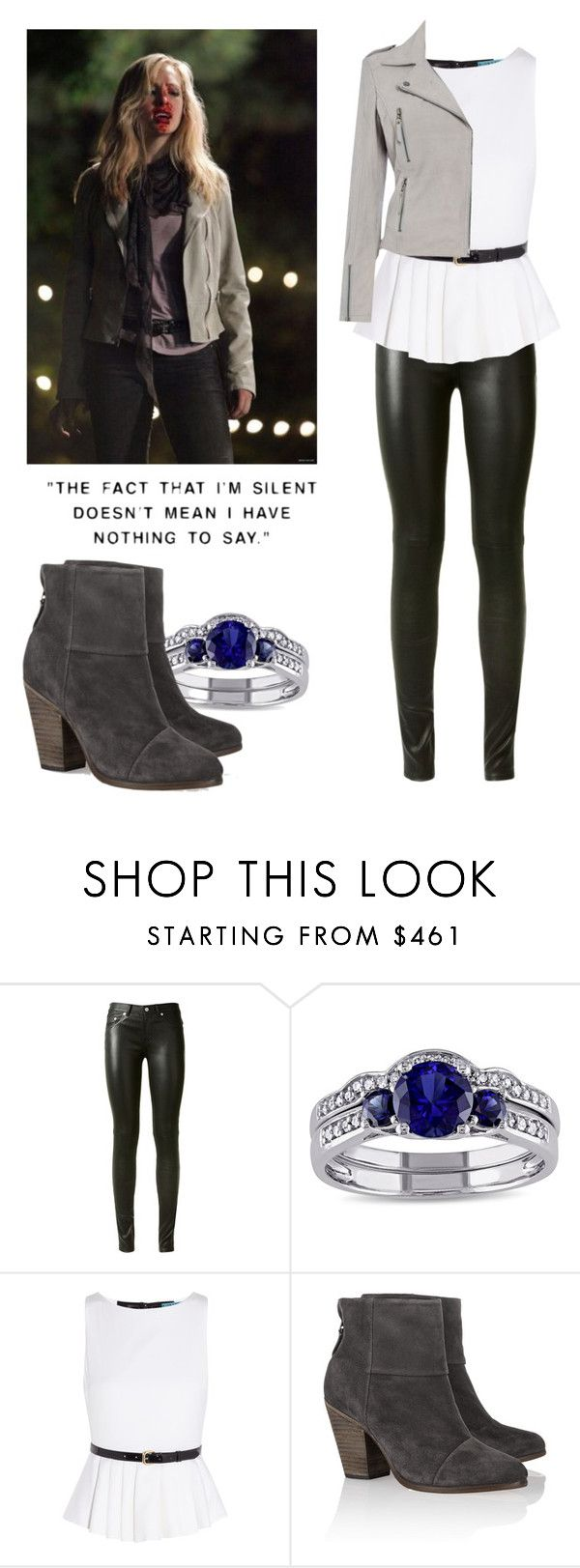 """""""Caroline Forbes - tvd / the vampire diaries"""" by shadyannon ❤ liked on Polyvore featuring Yves Saint Laurent, Miadora, Alice + Olivia, rag & bone and Linea Weekend"""