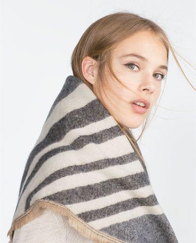 Cette écharpe ZARA...   wishlist   Scarf styles, Zara et Clothes a80b27a9172